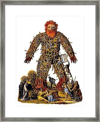 Wicker Man Druid Ceremony Framed Print by Photo Researchers