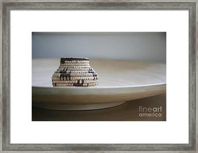 Wicker On Wood Framed Print