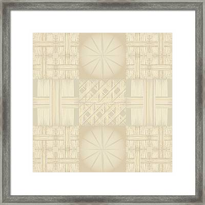 Wicker Quilt Framed Print by Kevin McLaughlin