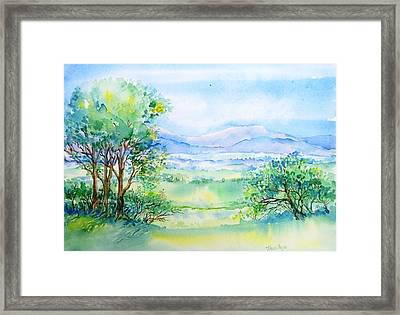Wicklow Landscape In Summer Framed Print by Trudi Doyle