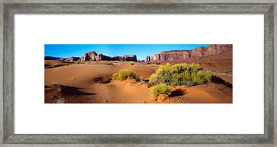 Wide Angle View Of Monument Valley Framed Print by Panoramic Images