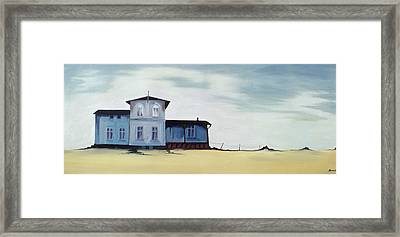 Wide Blue Framed Print by Ana Bianchi