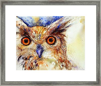 Wide Eyed_ The Owl Framed Print