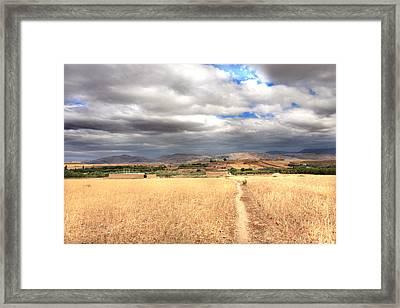 Wide Land Framed Print by Martina  Rathgens