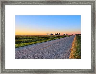 Wide Open Roads - Rural Georgia Landscape Framed Print by Mark E Tisdale