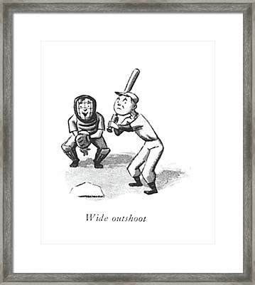 Wide Outshoot Framed Print by William Steig