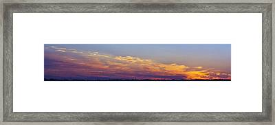 Wide Sunset Panorama Framed Print