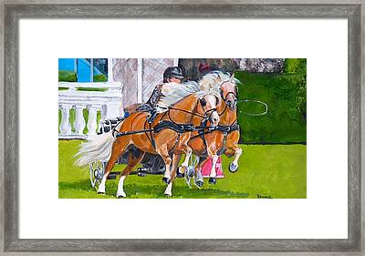 Framed Print featuring the painting Widescreen Hickstead by Janina  Suuronen