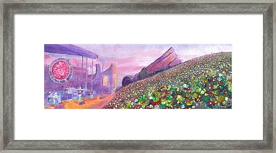 Widespread Panic At Redrocks Framed Print by David Sockrider