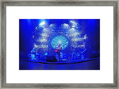 Widespread Panic Blue Framed Print by Ty Helbach