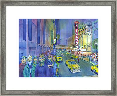 Widespread Panic Chicago  Framed Print by David Sockrider
