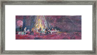 Widespread Panic Painted Live  Framed Print by David Sockrider