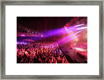 Widespread Panic Red Framed Print by Ty Helbach