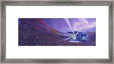 Widespread Panic Redrocks Lighting Framed Print by David Sockrider