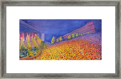 Widespread Panic Redrocks With Michael Houser Framed Print by David Sockrider