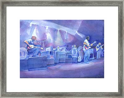 Widespread Panic With Michael Houser  Framed Print by David Sockrider
