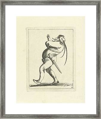 Wielding Fool, Pieter Jansz Framed Print by Pieter Jansz. Quast And Frederik De Wit