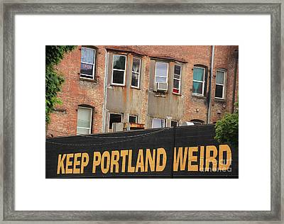 Weird And Wonderful Portland Framed Print by Kris Hiemstra