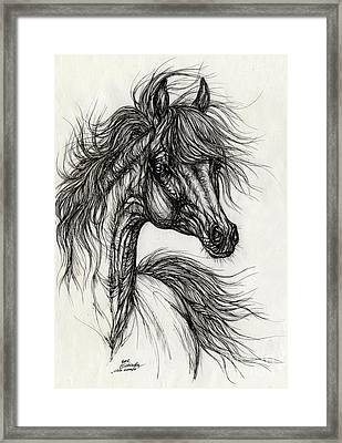 Wieza Wiatrow Polish Arabian Mare Drawing Framed Print