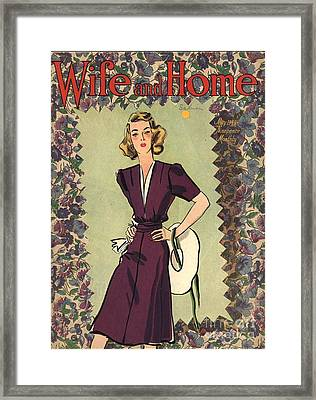 Wife And Home 1940s Uk Womens Magazines Framed Print by The Advertising Archives