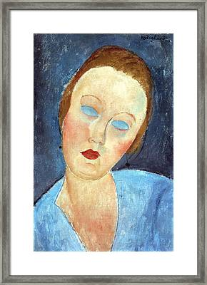 Wife Of The Painter Survage Framed Print by Amedeo Modigliani