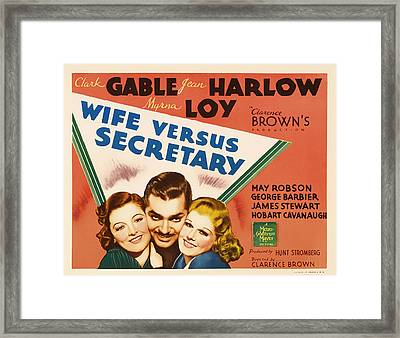 Wife Versus Secretary Movie Poster 1936 Framed Print