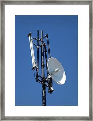 Wifi Antennae Framed Print