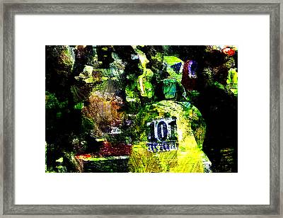 Wiggins Time Trial Ride Framed Print by Wheely Art