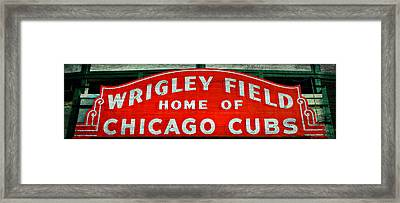 Wrigley Field Sign -- No.3 Framed Print by Stephen Stookey