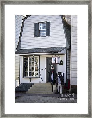 Wigmaker And Barber Shop Williamsburg Virginia Framed Print