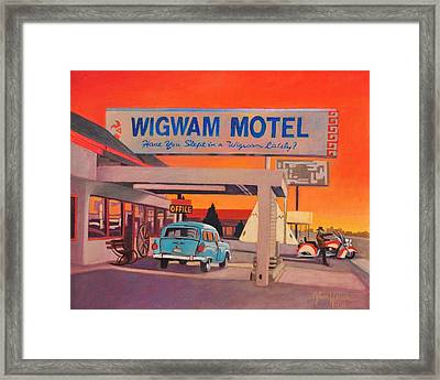 Wigwam Motel Framed Print by Art James West
