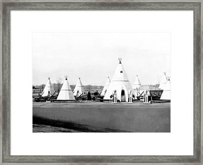 Wigwam Village Gas Station Framed Print
