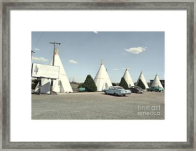 Framed Print featuring the photograph Wigwams In Arizona by Utopia Concepts