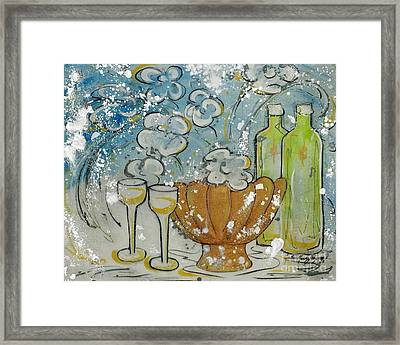 Wiine Time Framed Print by Cynthia Parsons