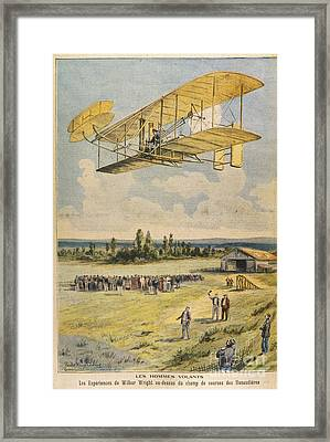 Wilbur Wright Airborne Framed Print by Mary Evans Picture Library