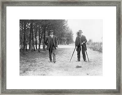Wilbur Wright And Photographer Framed Print by Library Of Congress