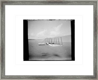 Wilbur Wright On Glider Framed Print by MMG Archives