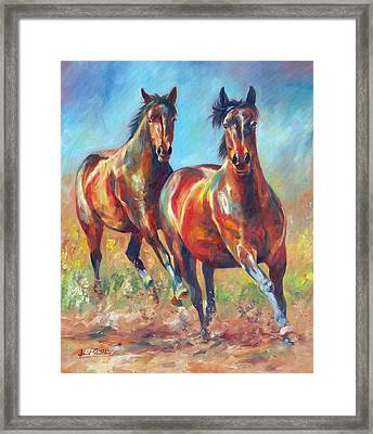 Wild And Free Framed Print by David Stribbling
