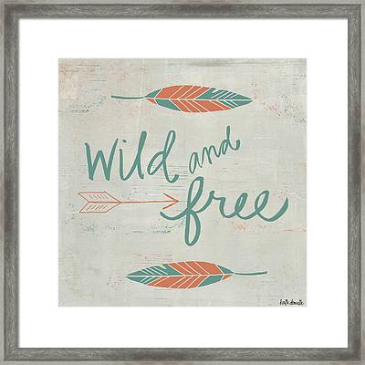 Wild And Free Framed Print by Katie Doucette