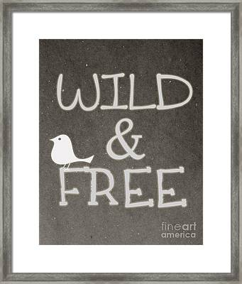 Wild And Free Framed Print by Pati Photography