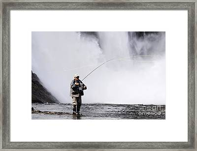 Wild Angling Framed Print by Colin Woods