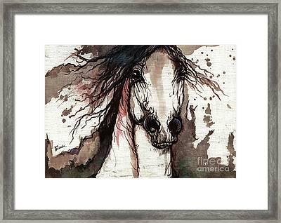 Wild Arabian Horse Framed Print by Angel  Tarantella