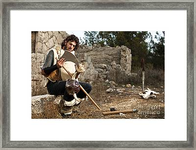 wild Barbarian Attach Framed Print