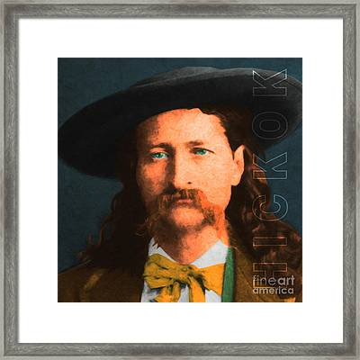 Wild Bill Hickok 20130518 Square With Text Framed Print by Wingsdomain Art and Photography