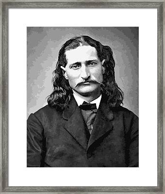 Wild Bill Hickok Grayscale Framed Print by Daniel Hagerman