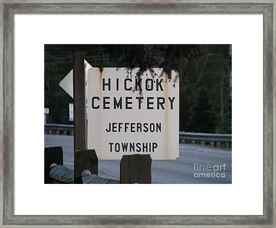 Framed Print featuring the photograph Wild Bill Hickok by Michael Krek