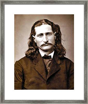 Wild Bill Hickok Painterly Framed Print by Daniel Hagerman