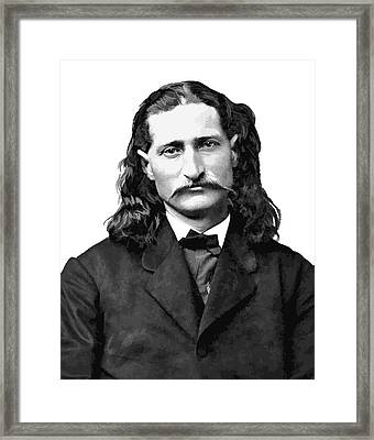 Wild Bill Hickok White Background Framed Print by Daniel Hagerman