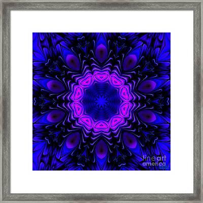 Framed Print featuring the digital art Wild Blue by Hanza Turgul