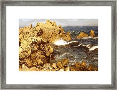 Wild California Coast - Modern Art Framed Print by Art America Gallery Peter Potter